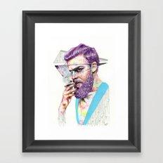 Clown on the Outside Framed Art Print