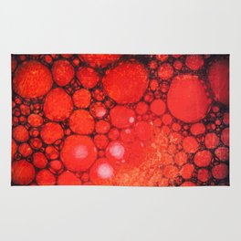 Blood Oil on Water Abstract Rug