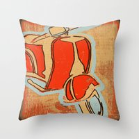 vespa Throw Pillows featuring Vespa by Wood Grian & Grits