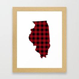 Illinois - Buffalo Plaid Framed Art Print