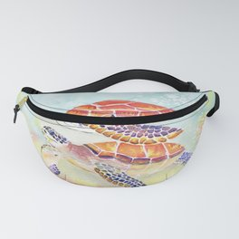 Swimming Together - Sea Turtle Fanny Pack