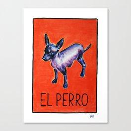 El Perro Canvas Print