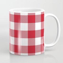 Buffalo Plaid - Red & White Coffee Mug