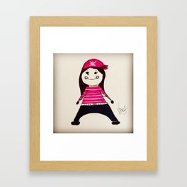 PIRATE LALA Framed Art Print