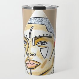Badu in the Abstract Travel Mug