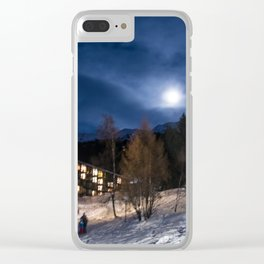 Night in the mountains Clear iPhone Case