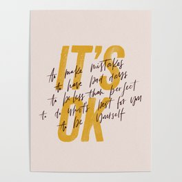 Its OK quotes Poster