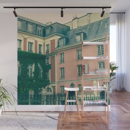 Paris Pink House Wall Mural