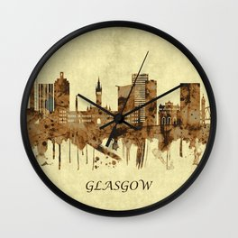 Glasgow Scotland Cityscape Wall Clock