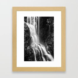 Avalon Falls - Black & White Framed Art Print