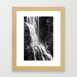 Avalon Falls - Black & White Framed Art Print