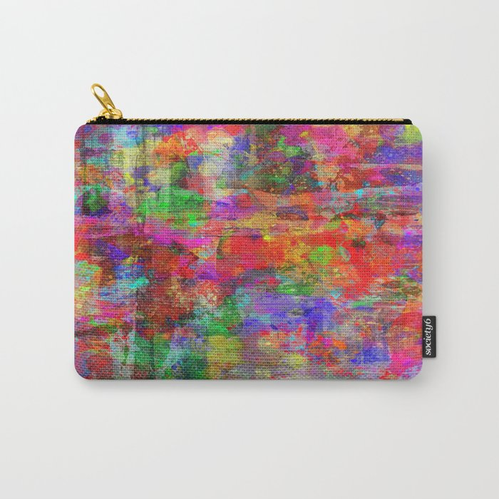 Vibrant Chaos - Mixed Colour Abstract Carry-All Pouch