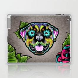 Rottweiler - Day of the Dead Sugar Skull Dog Laptop & iPad Skin