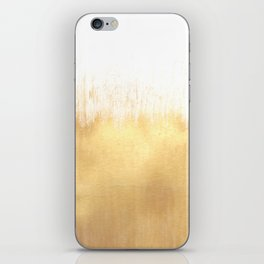 Brushed Gold iPhone Skin