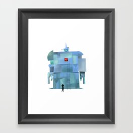Big Bot Framed Art Print