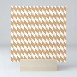 Sandal Cross-Check Lines Pattern Mini Art Print
