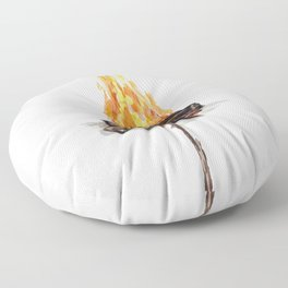Campfire, Smore, Marshmallow Roasting, Camping Floor Pillow