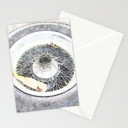 Vintage Wire Wheel Stationery Cards