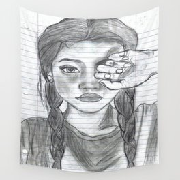 Tumblr girl Wall Tapestry