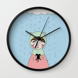 Let your heart grow stronger Wall Clock