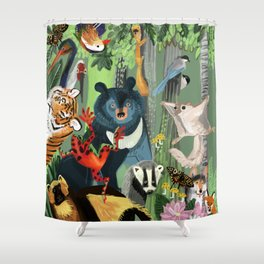 Ussuriland  Dersu´s dream Shower Curtain