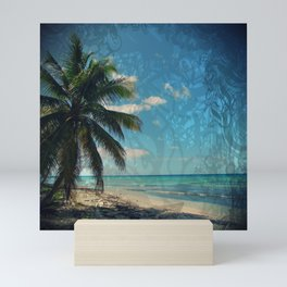 Caribbean Blue digital Artwork Isla Saona Tribute Mini Art Print