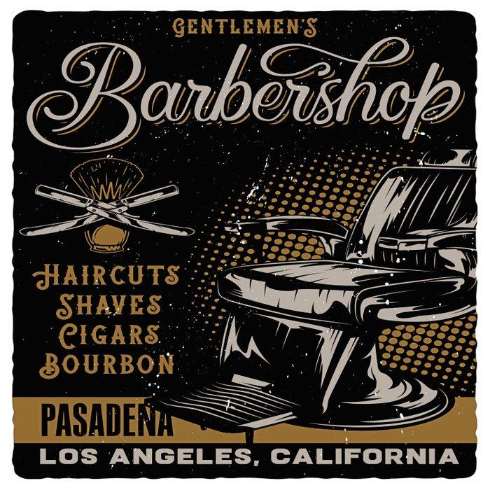 Gentlemen's Barber Shop LA Duvet Cover