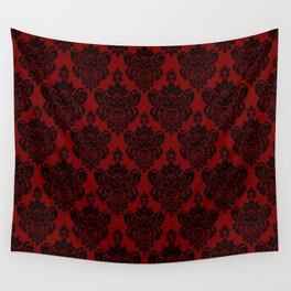 Crimson Damask Wall Tapestry