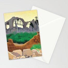 Felix Edouard Vallotton - The Church Of Souain - Digital Remastered Edition Stationery Cards