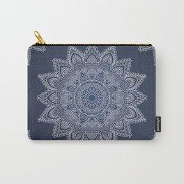 Blue mandala tibetan pattern Carry-All Pouch