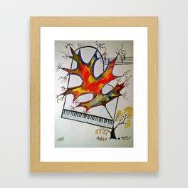 Fall Piano Framed Art Print