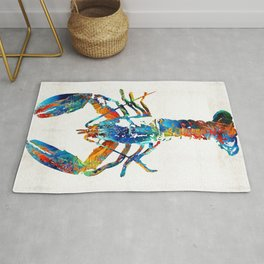 Colorful Lobster Art by Sharon Cummings Rug