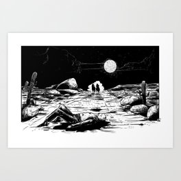 The Old West Battle III Art Print