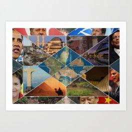 Leaders from Around the Globe Art Print