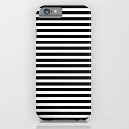 Striped Black and White iPhone Case