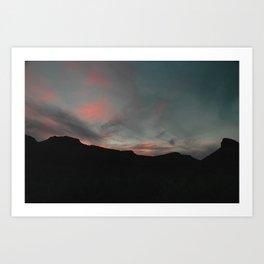 Big Bend Sunset Art Print