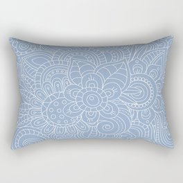 Background abstract flowers, doodleart, graphic-desing vector pattern. Rectangular Pillow