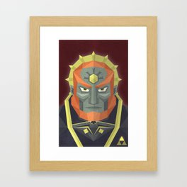 The King of Darkness Framed Art Print