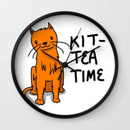 Kit-Tea Time | Veronica Nagorny  Wall Clock