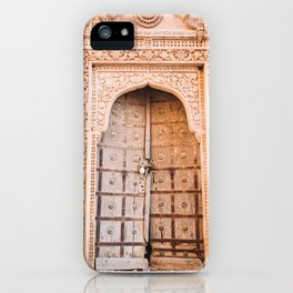 Wooden Door in the Golden City Jaisalmer in Rajasthan, India | Travel Photography | iPhone Case