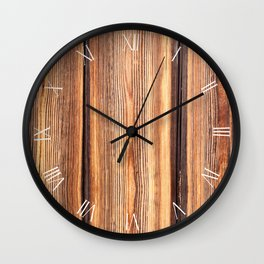 Weathered old boards texture abstract Wall Clock