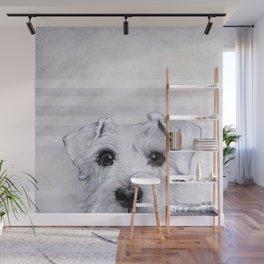 Schnauzer original Dog original painting print Wall Mural