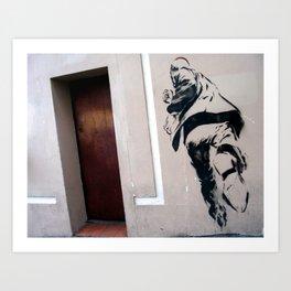 RUNNING MAN - NEW ZEALAND Art Print