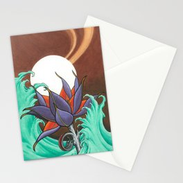 Mech Lotus Moon Stationery Cards
