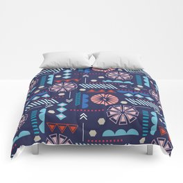 GEOMETRIC NAVY Comforters