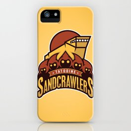Tatooine SandCrawlers - Gold iPhone Case