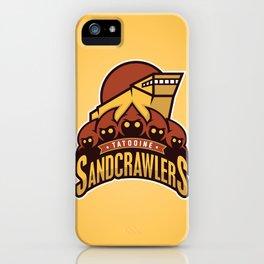 Tatooine SandCrawlers - Gold iPhone Case