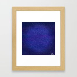Lost in the Shiny Stars Framed Art Print