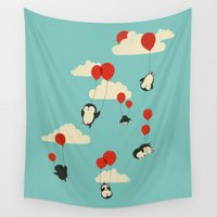 balloons Wall Tapestries featuring We Can Fly! by Jay Fleck