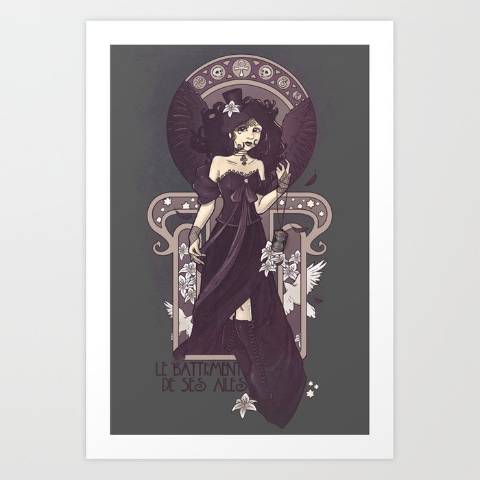 The Sound of Her Wings Art Print